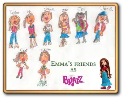 Emma's Friends as Bratz