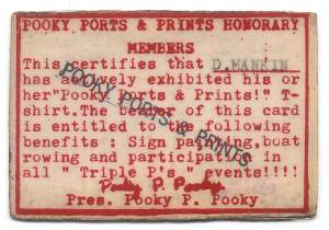 Pooky Ports & Prints Membership Card